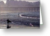 Long Street Greeting Cards - Bringing it into Shore Greeting Card by Ron Regalado