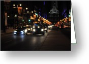 Philadelphia Greeting Cards - Broad Street Greeting Card by Brynn Ditsche