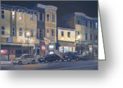 Massachusetts Greeting Cards - Broadway Nocturne Greeting Card by Deb Putnam