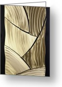 Textured Sculpture Greeting Cards - Broken Gold Greeting Card by Rick Roth