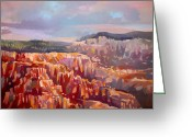 Inspiration Point Greeting Cards - Bryce Canyon Greeting Card by Filip Mihail