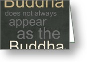 Gray Greeting Cards - Buddha Greeting Card by Linda Woods