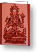 Varvara Stylidou Greeting Cards - Buddha Of Compassion Greeting Card by Varvara Stylidou