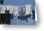 Washing Greeting Cards - Burano island. Venice Greeting Card by Bernard Jaubert