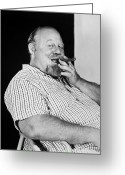 Smoker Greeting Cards - Burl Ives (1909-1995) Greeting Card by Granger