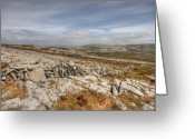 Barren Limestone Greeting Cards - Burren Landscape view Greeting Card by John Quinn