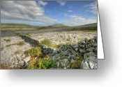 Barren Limestone Greeting Cards - Burren National Park Greeting Card by John Quinn