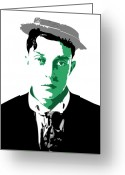 Lloyd Greeting Cards - Buster Keaton Greeting Card by Dean Caminiti