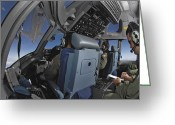American Airmen Greeting Cards - C-17 Globemaster Iii Aircrew Members Greeting Card by Stocktrek Images
