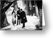 Handshake Greeting Cards - Cabinet Of Dr. Caligari Greeting Card by Granger