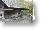 Pioneer Park Greeting Cards - Cable Mill Barn Greeting Card by Michael Peychich