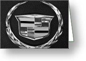 Car Mascot Greeting Cards - Cadillac Emblem Greeting Card by Jill Reger
