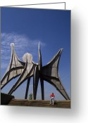 Alexander Calder Greeting Cards - Calder Sculpture in Montreal Greeting Card by Carl Purcell