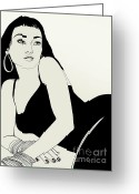 Starlet Greeting Cards - California Girl in Love Greeting Card by Lori Gruwell