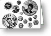 Lbj Greeting Cards - Campaign Buttons Greeting Card by Granger