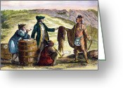 Trader Greeting Cards - Canada: Fur Traders, 1777 Greeting Card by Granger