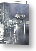 Thriller Greeting Cards - Canal Grande Greeting Card by Joana Kruse