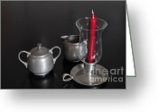 Serving Piece Greeting Cards - Candle and serving set Greeting Card by Ralph Hecht