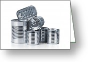 Groceries Greeting Cards - Canned food Greeting Card by Carlos Caetano
