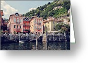 Benjamin Matthijs Greeting Cards - Cannero Riviera Greeting Card by Benjamin Matthijs