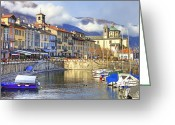 Sanctuary Greeting Cards - Cannobio Greeting Card by Joana Kruse