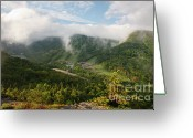 Foggy Morning Greeting Cards - Cannon Mountain - White Mountains New Hampshire USA Greeting Card by Erin Paul Donovan