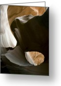Bold Photo Greeting Cards - Canyon Sandstone Abstract Greeting Card by Mike Irwin