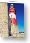 Benjamin Matthijs Greeting Cards - Cape Agulhas Lighthouse Greeting Card by Benjamin Matthijs