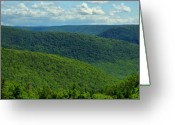 Mountainous Greeting Cards - Cape Breton Highlands Greeting Card by Joe  Ng