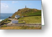 Cape Cornwall Greeting Cards - Cape Cornwall Greeting Card by Ed Lukas