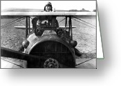 Us Air Force Greeting Cards - Captain Eddie Rickenbacker  Greeting Card by War Is Hell Store