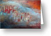 Wall Art Mixed Media Greeting Cards - Carpe Diem Wall Art Greeting Card by Anahi DeCanio