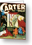 Tricks Greeting Cards - Carter the Great Greeting Card by Unknown