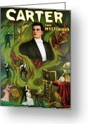 Carter Greeting Cards - Carter the Mysterious Greeting Card by Unknown