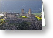 Middle Ages Greeting Cards - Castel Grande - Bellinzona Greeting Card by Joana Kruse