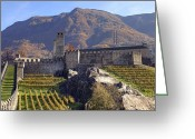 Heritage Greeting Cards - Castelgrande - Bellinzona Greeting Card by Joana Kruse