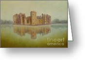 Carolinestreet Greeting Cards - Castle Reflection Greeting Card by Caroline Street