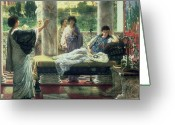 Alma-tadema Greeting Cards - Catullus Reading his Poems Greeting Card by Sir Lawrence Alma-Tadema