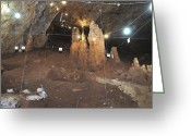 Archaeology Archeological Greeting Cards - Cave Excavation Rakefet Cave. Greeting Card by Photostock-israel