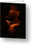 Cavern Greeting Cards - Cavern And Cave Art Greeting Card by Debra     Vatalaro