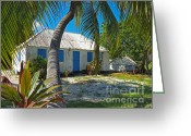 Caribbean Homes Greeting Cards - Cayman Islands Cottage Greeting Card by James Brooker