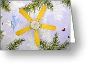 Antique Fan Greeting Cards - Ceiling Art Greeting Card by David Lee Thompson