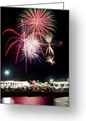 Pyrotechnics Greeting Cards - Celebration  Greeting Card by Malania Hammer