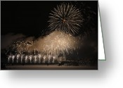 Fire Works Greeting Cards - Celebration Greeting Card by Nina Stavlund