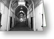 B Block Greeting Cards - Cell Block Greeting Card by John Rizzuto