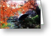 Seasons Framed Prints Prints Greeting Cards - Central Park New York City Greeting Card by Mark Ashkenazi