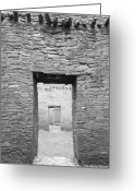 Anasazi Greeting Cards - Chaco Canyon Doorways 1 Greeting Card by Carl Amoth