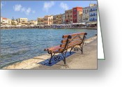 Old City Greeting Cards - Chania - Crete Greeting Card by Joana Kruse