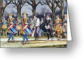 Martyr Greeting Cards - Charles Is Last Walk Greeting Card by Ron Embleton