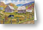 Artiste Greeting Cards - Charlevoix North Greeting Card by Richard T Pranke